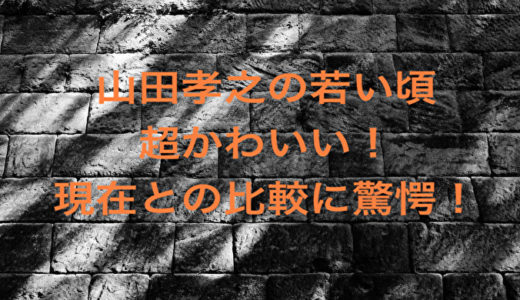 山田孝之の若い頃がかわいい!イケメン動画と現在との違いに驚き!