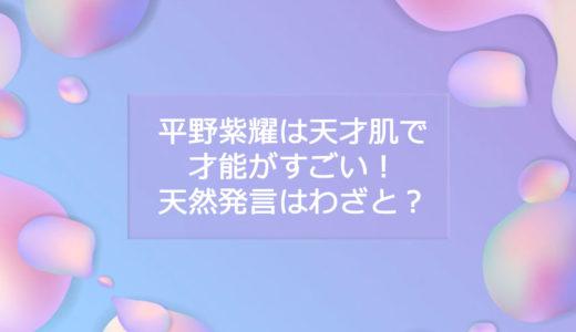 平野紫耀は天才肌で才能がすごい!天然発言はわざと?ナチュラル?