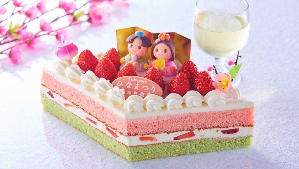 シャトレーゼひな祭りケーキ2021