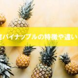 台湾パイナップルの特徴や違いは何?