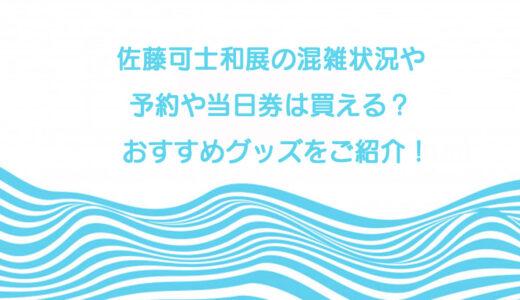 佐藤可士和展の混雑状況や予約や当日券は買える?おすすめグッズをご紹介!